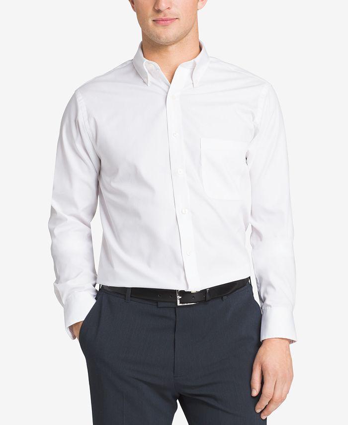 Van Heusen - Easy Care Pinpoint Oxford Dress Shirt, Big & Tall Sizes