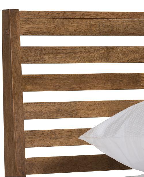 Furniture Sherlon Modern Queen Slatted Platform Bed, Quick