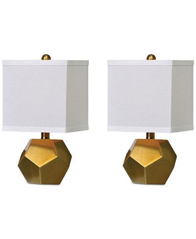 Uttermost Set of 2 Pentagon Table Lamps