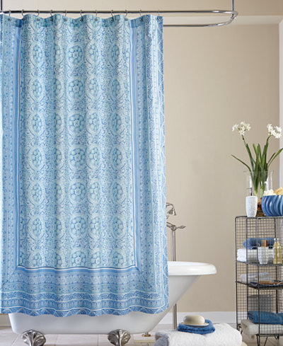 Jessica Simpson Mosaic Tile Shower Curtain
