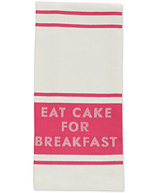 "kate spade new york ""Eat Cake for Breakfast"" Diner Stripe Kitchen Towel"