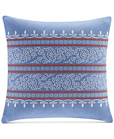 "CLOSEOUT! Echo Woodstock Embroidered 18"" Square Decorative Pillow"
