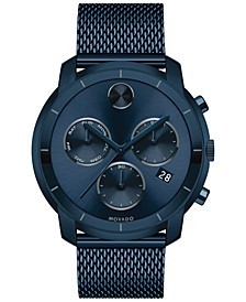 Men's Swiss Chronograph Bold Ink Blue Ion-Plated Stainless Steel Bracelet Watch 44mm 3600403