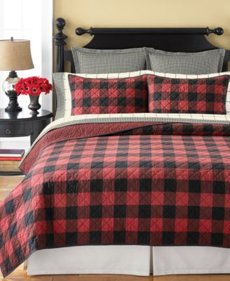 martha stewart collection montana plaid quilt and sham collection created for macyu0027s