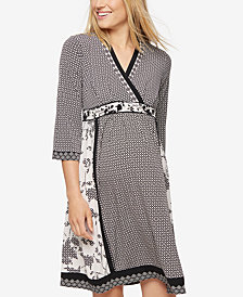 A Pea In The Pod Maternity Printed A-Line Dress