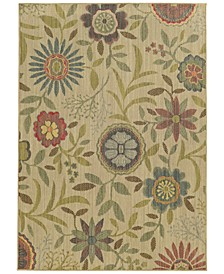 "Cabana Indoor/Outdoor 1330W Beige 3' 10"" x 5' 5"" Area Rug"