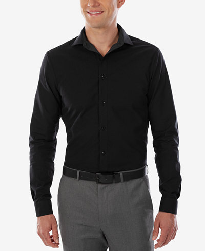 Calvin klein x men 39 s extra slim fit stretch reversible for Calvin klein slim fit stretch shirt