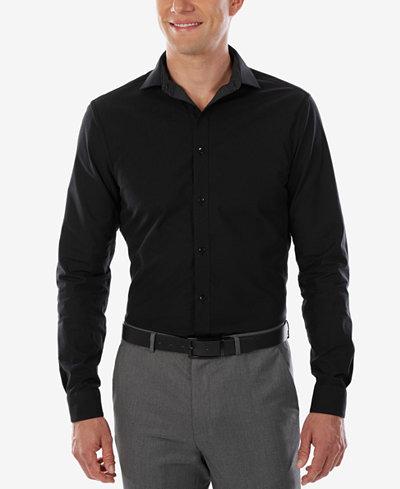 Calvin klein x men 39 s extra slim fit stretch reversible for Calvin klein x fit dress shirt