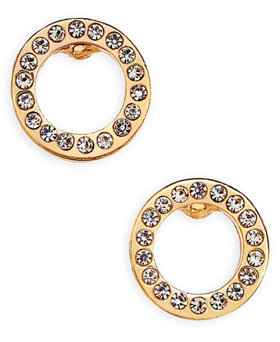 Vera Bradley Pav� Circle Stud Earrings