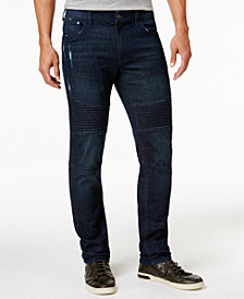 Ring of Fire Men's Slim Fit Stretch Ripped Moto Jeans, Created for Macy's