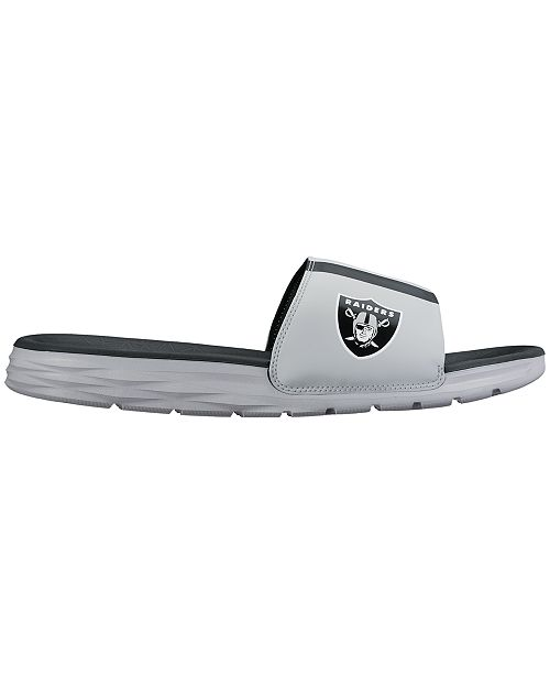 7bc8342544c Nike Men s Oakland Raiders Benassi Solarsoft Slides   Reviews ...