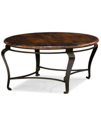 Clark Copper Oval Coffee Table Furniture Macys