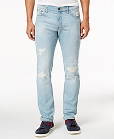 Ring of Fire Men's Slim Fit Stretch Ripped Jeans, Created for Macy's