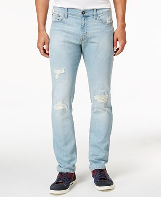Ring of Fire Men's Slim-Fit Cayenne Skylar Wash Ripped Jeans, Only ...