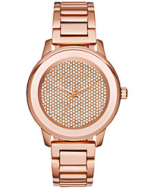 Michael Kors Women's Kinley Rose Gold-Tone Stainless Steel Bracelet Watch 42mm MK6210