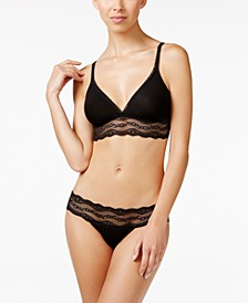 b.adorable Lace-Trim Bralette & Bikini