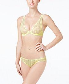 Heidi Klum Intimates A Roman Crush Geometric Lace Bra & Bikini