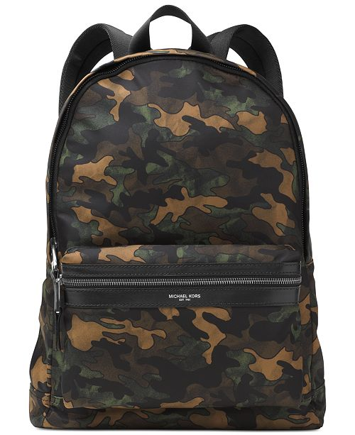 3d5e7446ae43 Michael Kors Men's Kent Camo Lightweight Backpack & Reviews - Bags ...