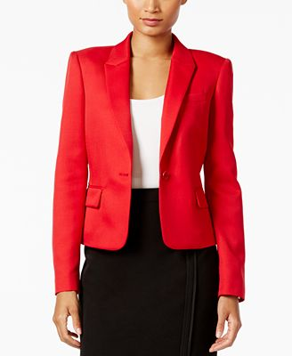 Tommy Hilfiger Twill One-Button Jacket - Jackets - Women - Macy's