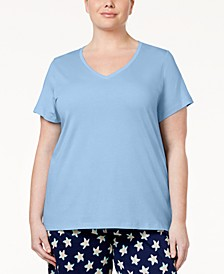 Plus Size V-Neck Pajama Top