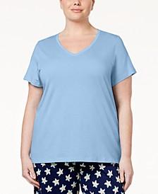 Plus Size V-Neck Pajama Top