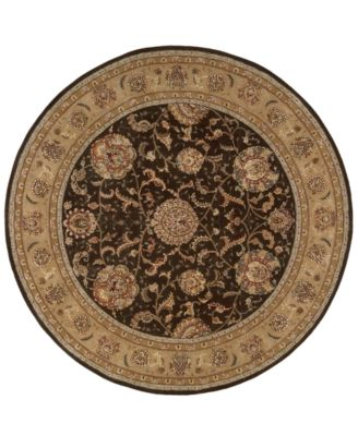 Area Rug, Nourison 2000 2206 Brown 4' Round