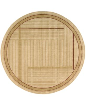 CLOSEOUT! Round Area Rug, Somerset ST17 Lines Gold 5' 6""