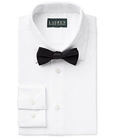 Lauren Ralph Lauren Tuxedo Shirt & Bow Tie Separates, Big Boys