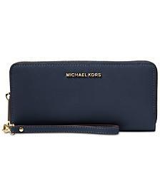 MICHAEL Michael Kors Jet Set Travel Crossgrain Leather Continental Wallet