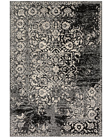 "Loloi Emory EB-01 Black/Ivory 2'5""x7'7"" Runner Area Rug"