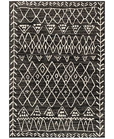 "Loloi Emory EB-09 Black/Ivory 2'5""x7'7"" Runner Area Rug"