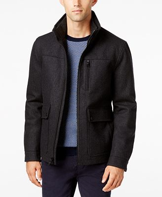 Nautica Men's Wool-Blend Bomber Jacket - Coats & Jackets - Men ...