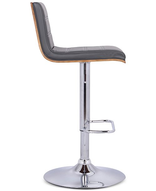 Astounding Aubrey Barstool Chrome Base Finish With Black Faux Leather And Walnut Back Caraccident5 Cool Chair Designs And Ideas Caraccident5Info