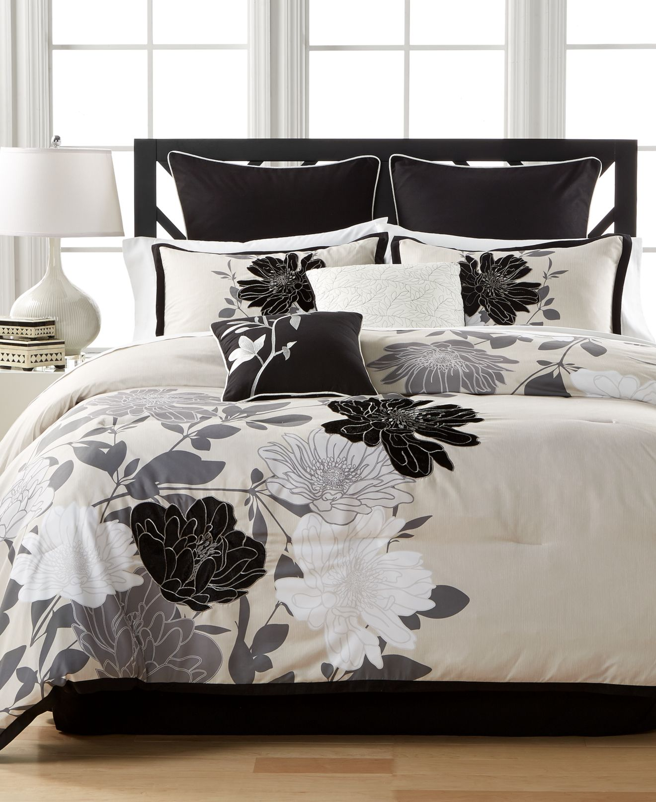 8 piece size 8 piece macy s midnight flowers 8 pc comforter sets created for macy s