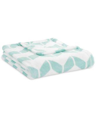 Chevron Plush Twin Blanket