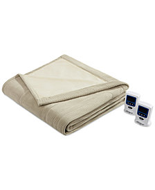 Beautyrest Knit Micro-Fleece Full Heated Blanket