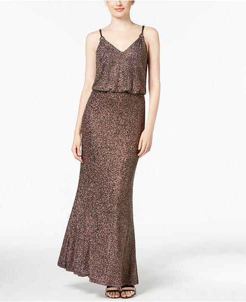 c582ff56626f Calvin Klein Metallic Blouson Gown  Calvin Klein Metallic Blouson Gown ...