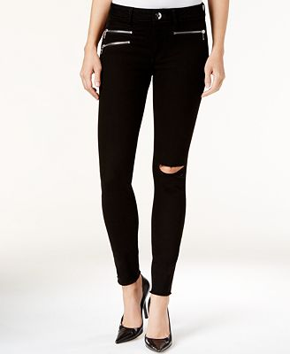 DL 1961 Jessica Alba No. 3 Instasculpt Ripped Skinny Jeans