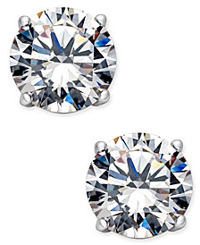 Danori Silver-Tone Crystal Stud Earrings, Created for Macy's