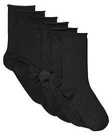 Lauren Ralph Lauren Women's 6 Pack Roll-Top Trouser Socks