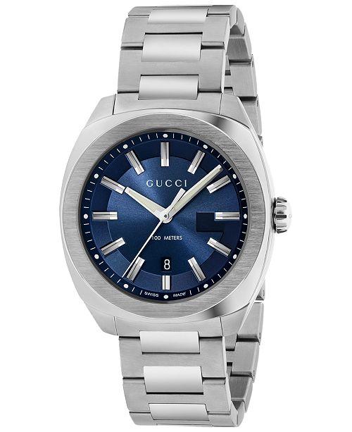 4a33b4316d4 ... Gucci Men s GG2570 Swiss Stainless Steel Bracelet Watch 41mm YA142303  ...