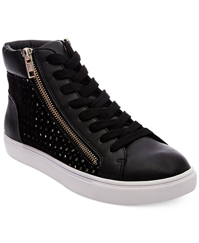 Steve Madden Women S Elyka Lace Up High Top Sneakers