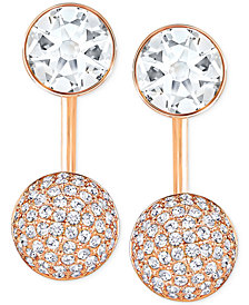 Swarovski Crystal and Pavé Earring Jacket Earrings