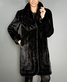 Shawl-Collar Mink Fur Coat