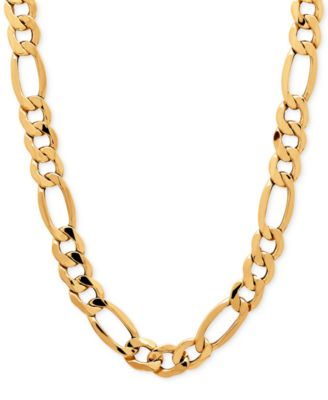 Italian Gold Mens Figaro Chain Necklace in 10k Gold Necklaces