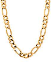 Italian Gold Men's Figaro Chain Necklace in 10k Gold