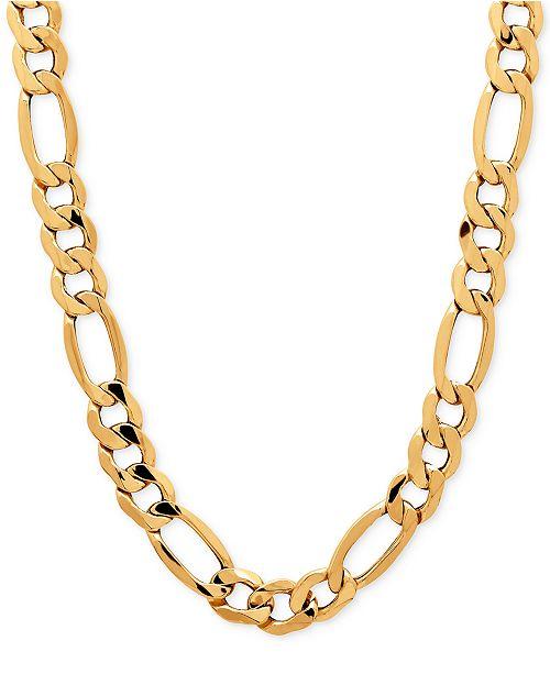 a7e0bbe31116c7 Italian Gold Men's Figaro Chain Necklace (8-1/2mm) in 10k Gold ...
