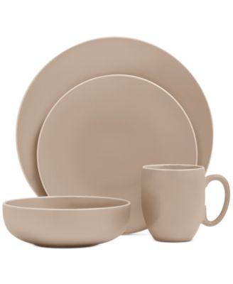 Vera Color Taupe 16-Piece Dinnerware Set, Service for 4