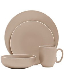 Vera Wang Wedgwood Vera Color Taupe 16-Piece Dinnerware Set, Service for 4