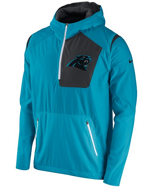 save off c487a 58a3e Nike Men's Carolina Panthers Vapor Speed Fly Rush Hooded ...